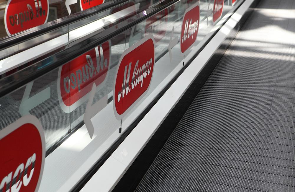Оформляем эскалаторы рекламой, фото