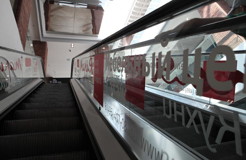 Реклама на эскалаторах, фото